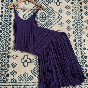 Purple and grey maxi dress